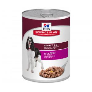 science plan canine adulte boeuf boite 370g  x12 (HILL'S)